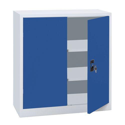 Armário baixo com portas rebatíveis em kit - Largura 100 cm