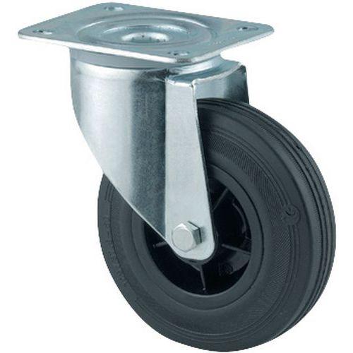 Rodízio giratório com placa - Capacidade de 70 a 295 kg