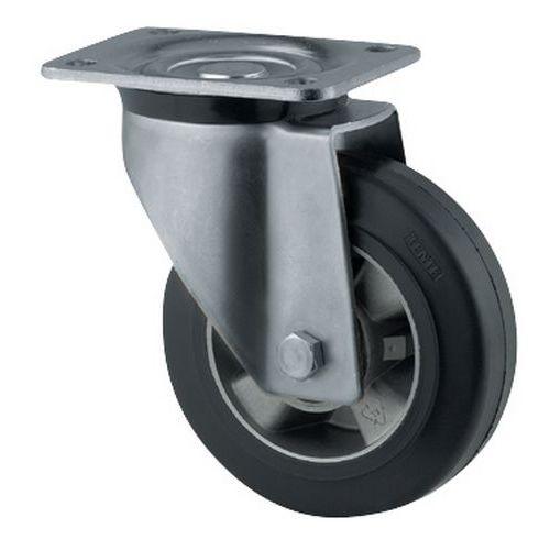 Rodízio giratório com placa – Capacidade de carga de 200 a 450kg