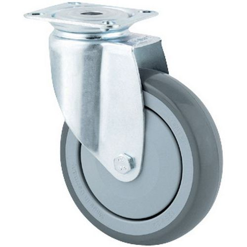 Rodízio giratório com placa - Capacidade de 40 a 100 kg