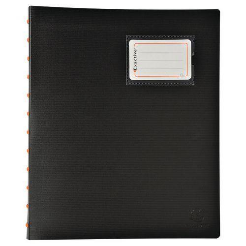 Pasta de proteção de documentos amovível com argolas 40 faces Exactive - A4
