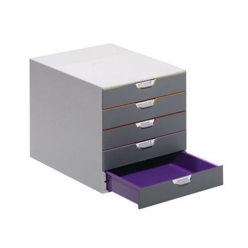 Módulo de arquivo Varicolor – 5 gavetas