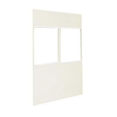 Divisória dupla parede em chapa de aço - Painel vidrado (4 mm) - Altura 2,5 m