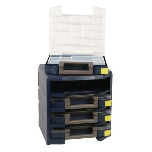 Bloco transportável HANDY Boxxser® - 4 maletas