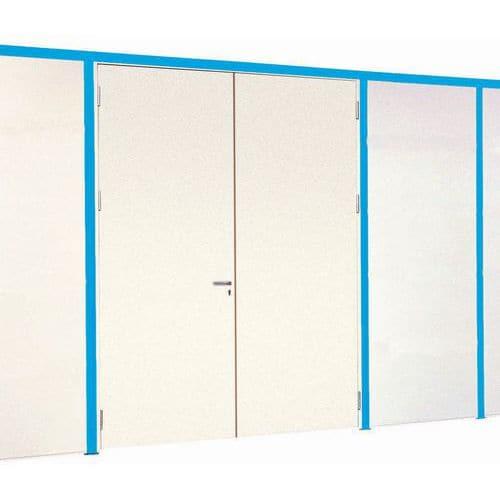 Divisória simples parede em melamina - Painel integral - Altura 3,01 m