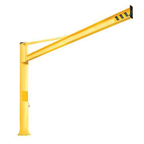 Grua de bandeira triangular de coluna - Capacidade 250 kg