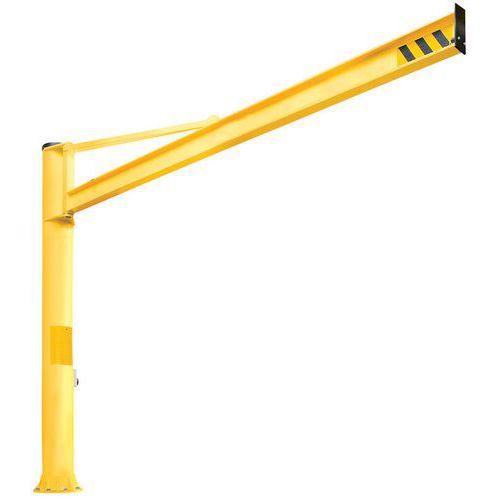 Grua de bandeira triangular de coluna - Capacidade 500 kg