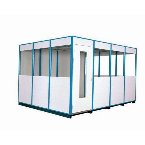 Cabina de parede simples em melamina - Em kit - Porta rebatível