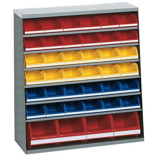 Armário com 32 caixas de bico - Baixo - Sem portas