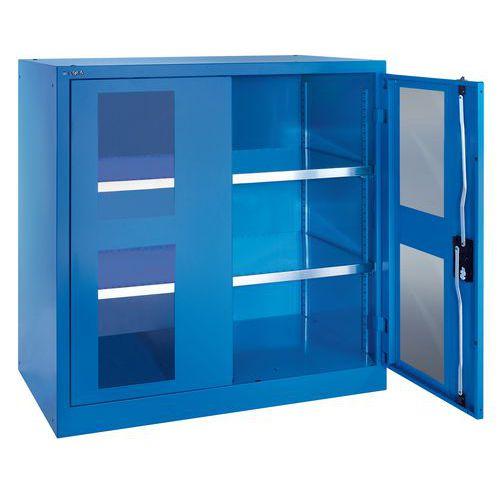 Armário envidraçado portas rebatíveis - Largura 102 cm