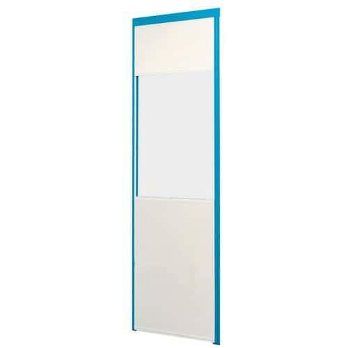 Divisória simples parede em melamina - Painel semividrado (esp. 4 mm) - Altura 3,01 m