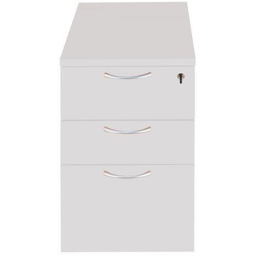 Bloco-gavetas fixo em madeira - Cinzento claro - Manutan