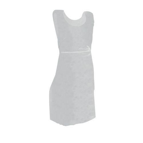 Avental descartável branco em polietileno