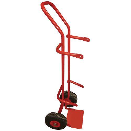 Porta-cargas para garrafas - Rodas pneumáticas - Capacidade de 200 kg