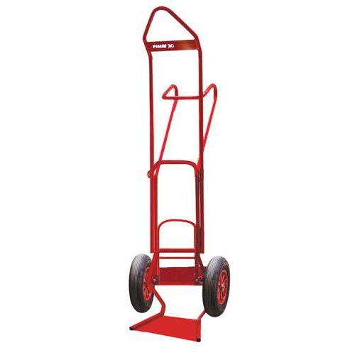 Porta-cargas para garrafas com possibilidade de alongamento - Rodas pneumáticas - Capacidade de 250 kg