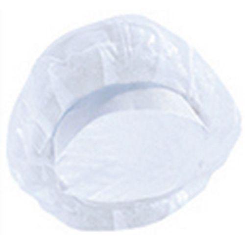 Touca com viseira de polipropileno azul