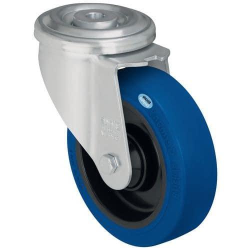 Rodízio giratório de olhal - Capacidade de 150 kg