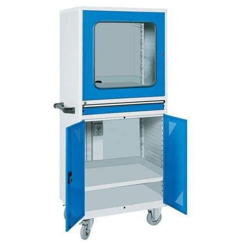 Armário para produtos informáticos móvel – Para computador de secretária
