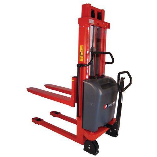 Empilhador semielétrico ergonómico Logitrans – Capacidade: 1000kg