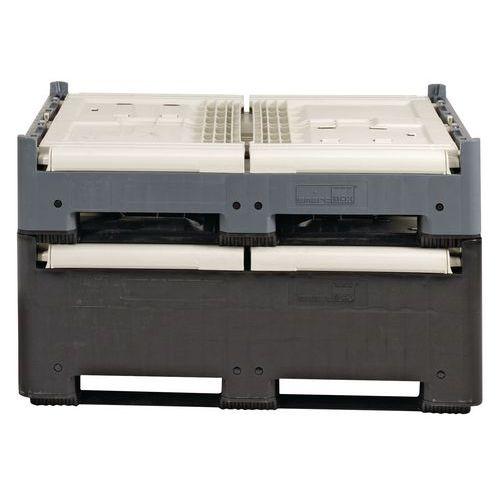 Caixa-palete dobrável Smartbox – Com abertura de introdução