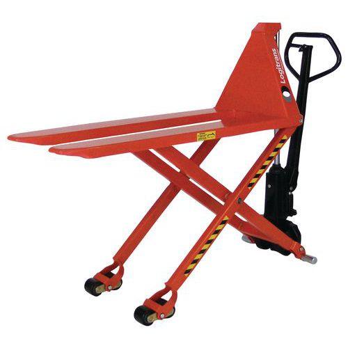 Porta-paletes manual de grande elevação – capacidade de 1500kg – Logitrans