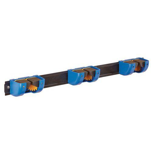 Suporte de 3 ganchos sobre barra para cabos - cabos de Ø 5 a 38 mm