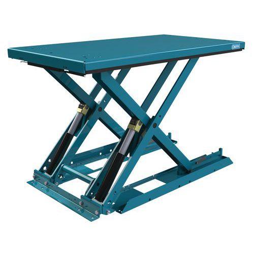Mesa elevatória ergonómica, fixa e extraplana MX-10 – Capacidade: 1000kg
