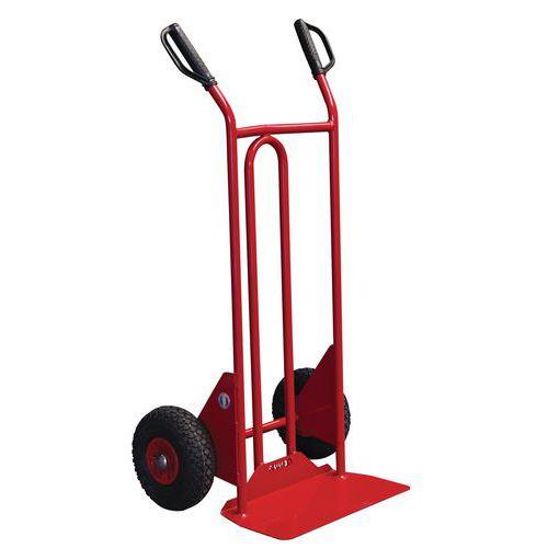 Transportador em aço – rodas antifuros – aba fixa – capacidade de 250 kg