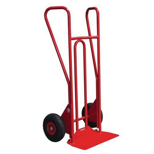 Porta-cargas em aço - Rodas antifuros - Capacidade de 250 kg