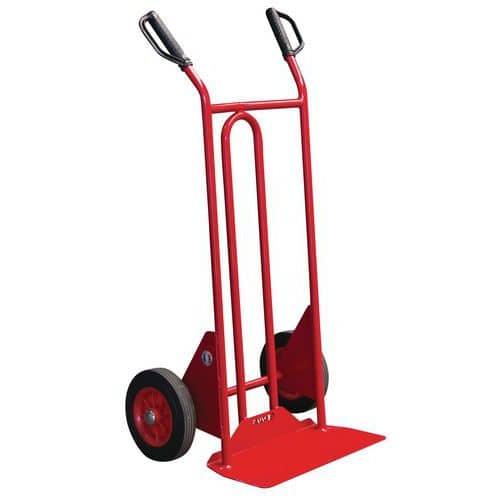 Transportador em aço – rodas em borracha – aba fixa – capacidade de 250 kg