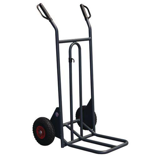 Porta-cargas em aço - Rodas pneumáticas - Aba dobrável - Capacidade de 350 kg