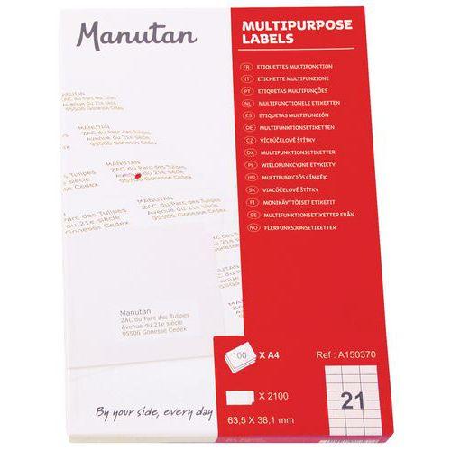 Etiquetas multifuncionais - Manutan