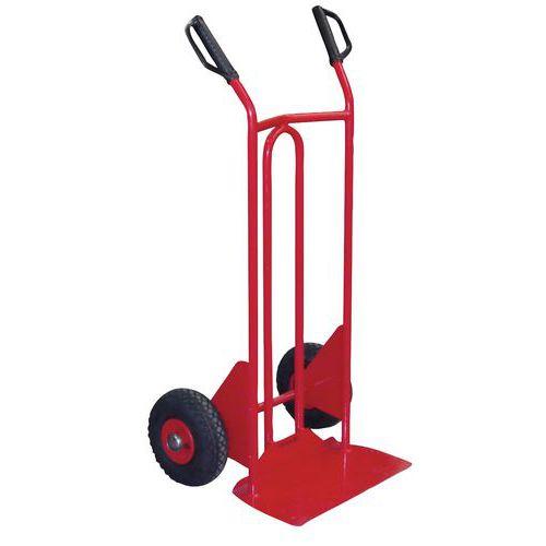 Transportador em aço – rodas pneumáticas – aba fixa – capacidade de 250 kg