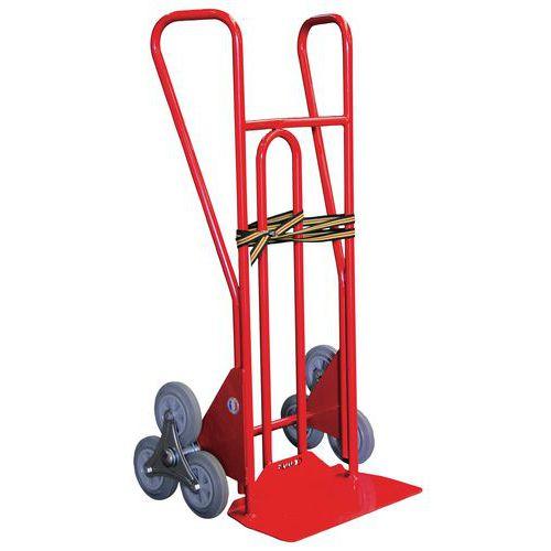 Transportador para escadas em aço com 3 rodas em estrela de 250kg