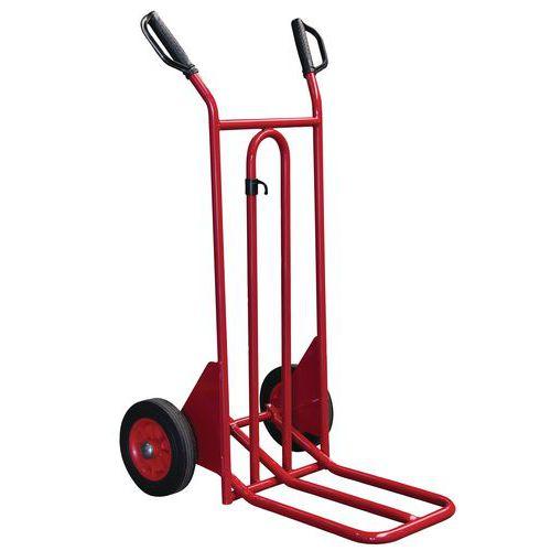 Transportador em aço de 250kg – Rodas em borracha