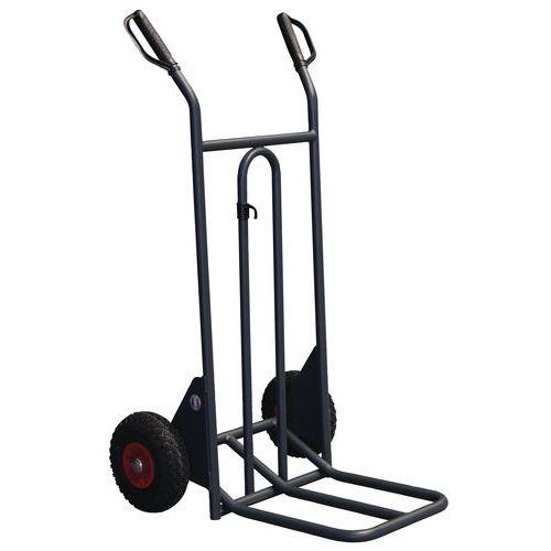 Porta-cargas aço - Rodas pneumáticas - Capacidade 350 kg
