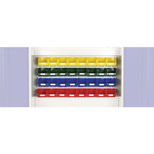Kit de 32 caixas para mini armário de oficina