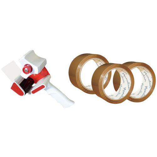 36 rolos de fita adesiva Hot Melt + 1 porta-rolos - Manutan