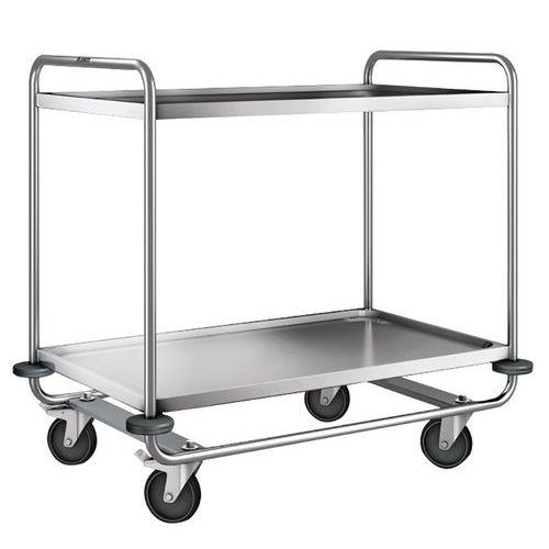 Carro inox - 2 plataformas - Capacidade 200 kg