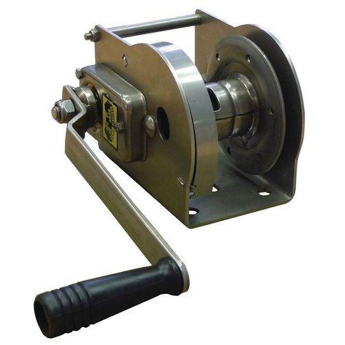 Guincho de reboque e elevação com autobloqueio - Aço inoxidável - Capacidade 80 a 490 kg