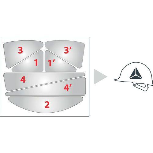 Bolsa de adesivos para capacetes de estaleiro