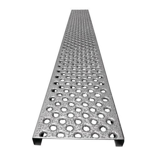 Piso gradeado aço galvanizado de grão - Em placas
