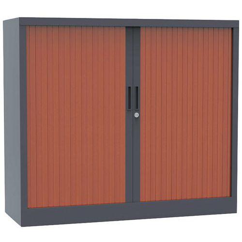 Armário com portas de persiana Premium bicolor - Altura 100 cm