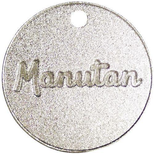Fichas numeradas de 001 a 300 de alumínio, 30 mm (conj. 100) - Manutan