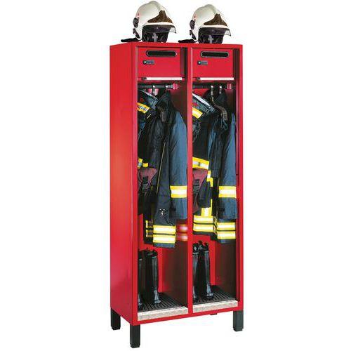 Cacifo para bombeiros S3000 Evolo - 1 a 3 colunas de 400 mm de largura - com pés