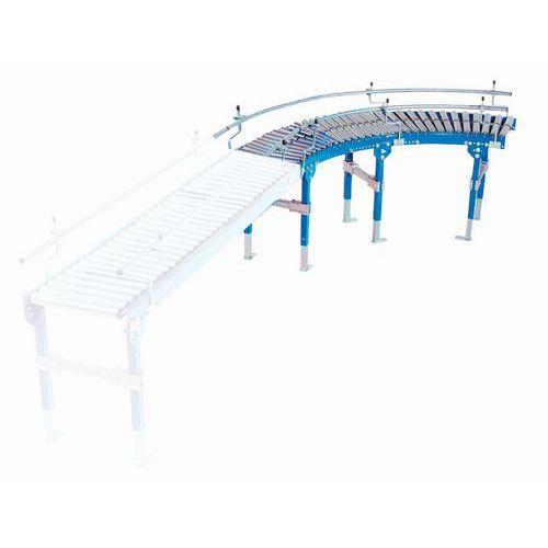Curva de transportador gravítico TRS com rolos em PVC – Somefi