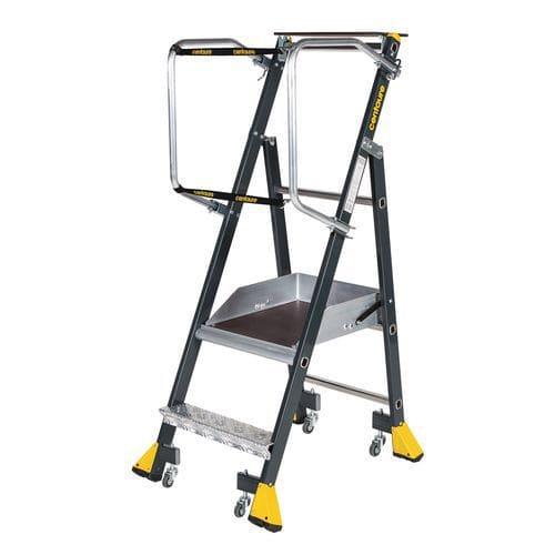Plataforma industrial ergonómica com rodas Stepper – Centaure