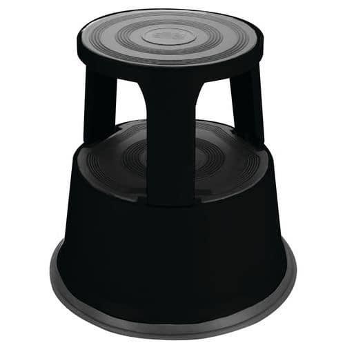 Miniescadote móvel em aço - 2 degraus - Manutan