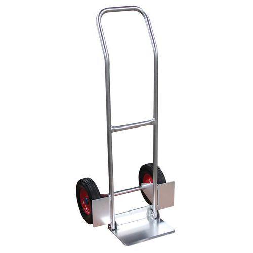 Porta-cargas em alumínio - Rodas em borracha - Capacidade de carga de 200kg