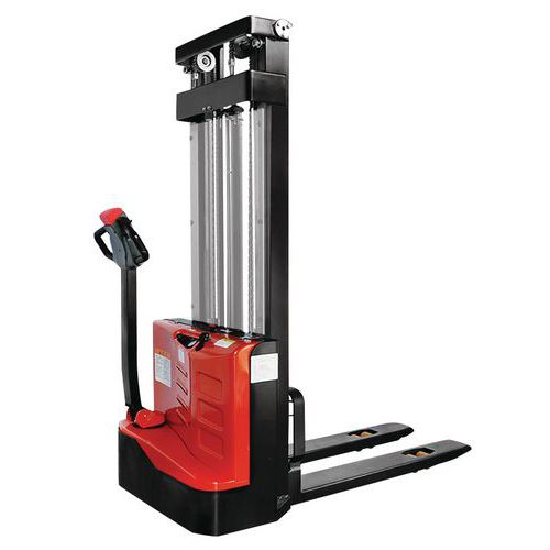 Empilhador elétrico ergonómico – Capacidade de carga de 1000kg
